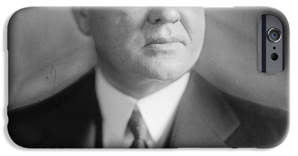 Politician Digital iPhone Cases - Herbert Hoover iPhone Case by Nomad Art And  Design