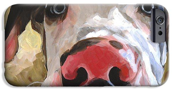 Great Dane Puppy iPhone Cases - Herbie iPhone Case by Annie Salness