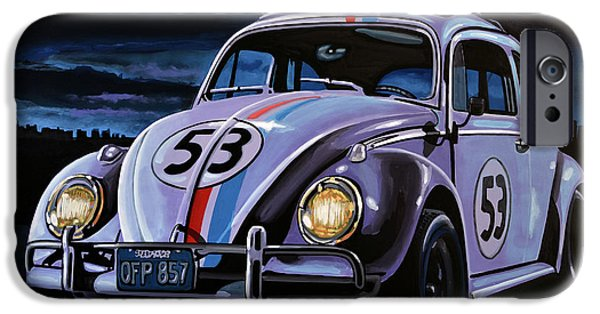 Boxer iPhone Cases - Herbie The Love Bug iPhone Case by Paul Meijering