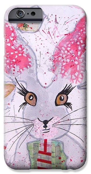 March Hare iPhone Cases - Herby hare iPhone Case by Karen  Connolly