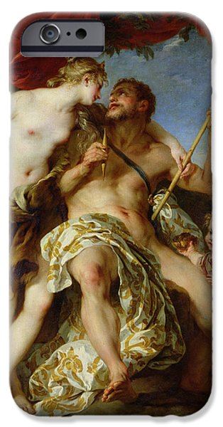 Clubs iPhone Cases - Hercules And Omphale, 1724 Oil On Canvas iPhone Case by Francois Lemoyne