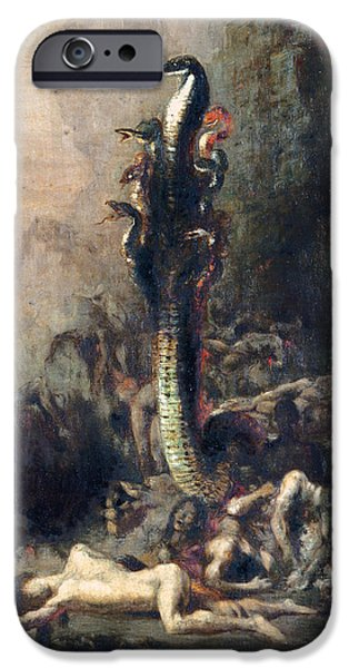 Labour iPhone Cases - Hercules And The Lernaean Hydra, After Gustave Moreau, C.1876 Oil On Canvas Detail Of 226576 iPhone Case by Narcisse Berchere