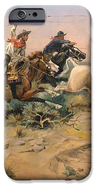 Herd Quit iPhone Case by Charles Russell