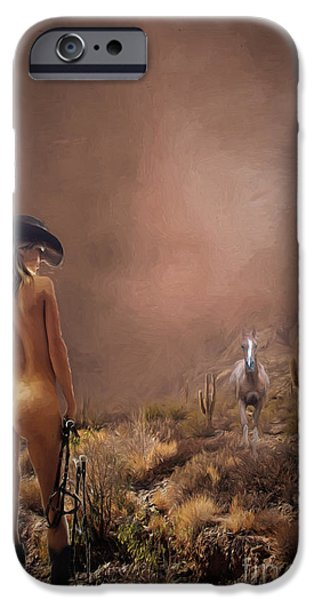 Hyperrealistic iPhone Cases - Here Boy iPhone Case by Jim  Hatch