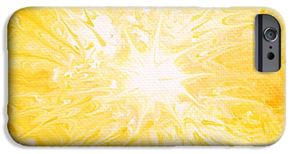 Sun Rays Paintings iPhone Cases - Here comes the sun iPhone Case by Kume Bryant