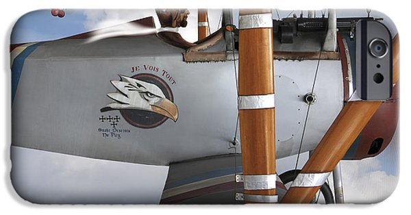 Triplane iPhone Cases - Here Comes Trouble 2 iPhone Case by Mike McGlothlen