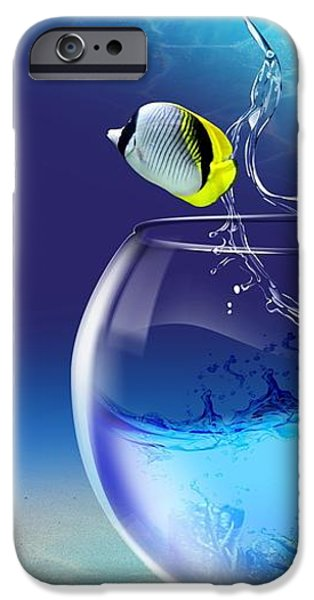 Here Fishy Fishy iPhone Case by Gianfranco Weiss