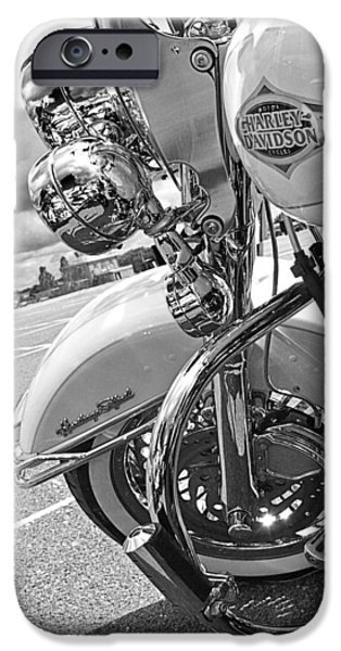 Fat Tire iPhone Cases - Heritage Softail Harley iPhone Case by Gill Billington