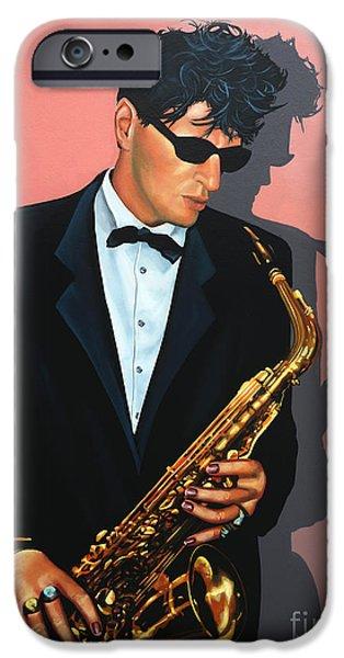 Painter Paintings iPhone Cases - Herman Brood iPhone Case by Paul  Meijering