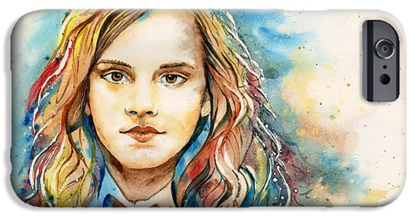 Hermione Granger iPhone Cases - Hermione  iPhone Case by Alina Kurbiel