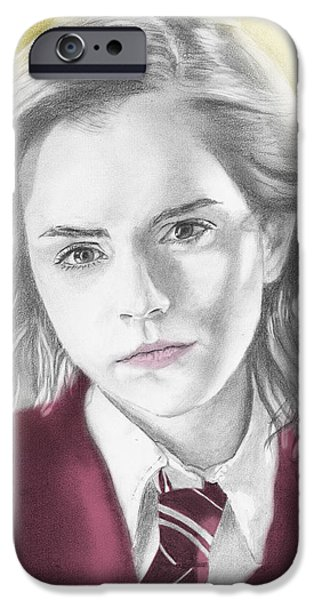 Hermione Granger iPhone Cases - Hermione Granger - Individual Yellow iPhone Case by Alexander Gilbert
