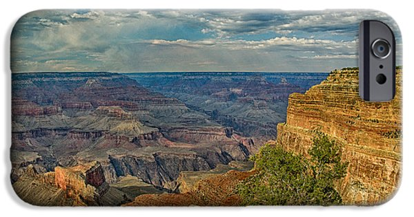 Night Angel Digital Art iPhone Cases - Hermit Road Viewpoint Grand Canyon National Park iPhone Case by  Bob and Nadine Johnston
