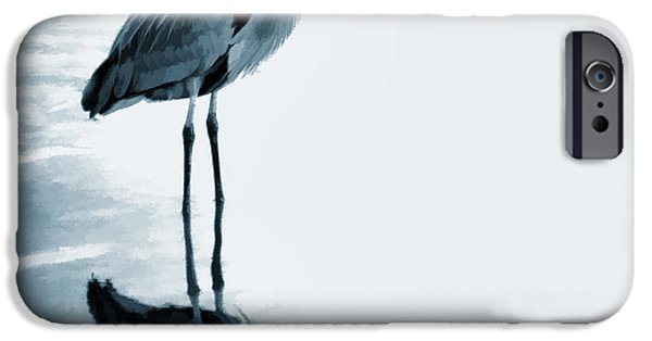 Simplistic iPhone Cases - Heron in the Shallows iPhone Case by Carol Leigh