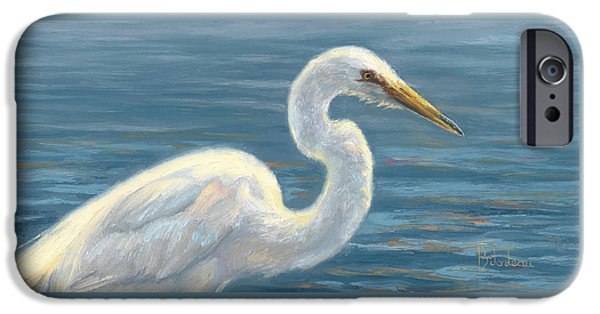 Heron Paintings iPhone Cases - Heron Light iPhone Case by Lucie Bilodeau