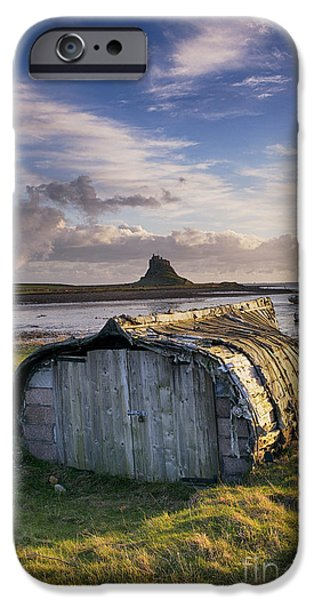 Shed iPhone Cases - Herring boat hut Lindisfarne HDR iPhone Case by Tim Gainey