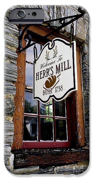 Grist Mill iPhone Cases - Herrs Mill - Lancaster iPhone Case by Paul W Faust -  Impressions of Light