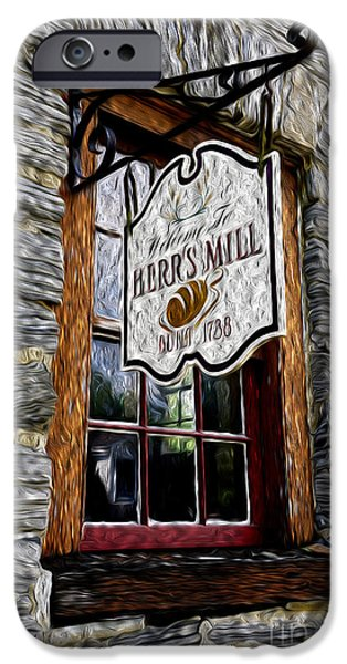 Grist Mill iPhone Cases - Herrs Mill iPhone Case by Paul W Faust -  Impressions of Light