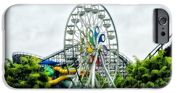Hershey iPhone Cases - Hershey Park Ferris Wheel iPhone Case by Bill Cannon