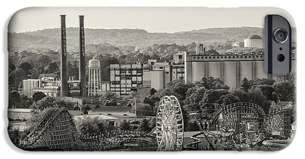 Hershey iPhone Cases - Hershey Park in Sepia iPhone Case by Bill Cannon