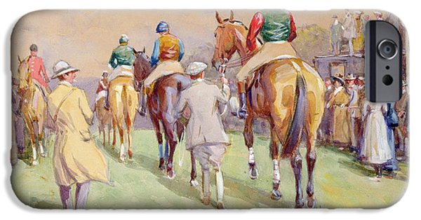 The Horse iPhone Cases - Hethersett Steeplechases iPhone Case by John Atkinson