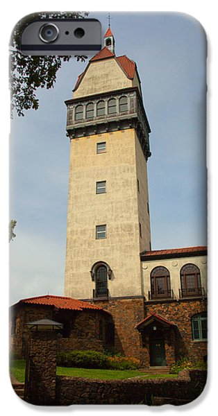 Connecticut Landscape iPhone Cases - Heublein Tower iPhone Case by Karol  Livote