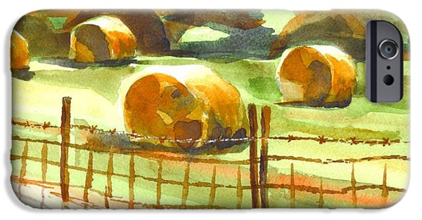 Bales Paintings iPhone Cases - Hey Bales in the Afternoon iPhone Case by Kip DeVore