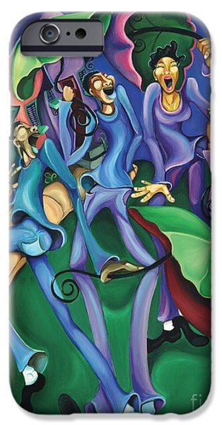 Mardi Gras Paintings iPhone Cases - Hey Na iPhone Case by Sharika  Mahdi
