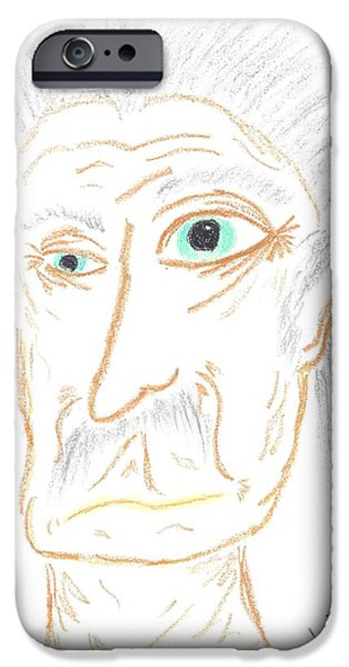 Gray Hair Pastels iPhone Cases - Hey That Looks Like... iPhone Case by Marie De Garo