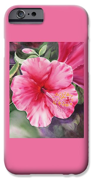 Hibiscus iPhone Cases - Hibiscus iPhone Case by Irina Sztukowski