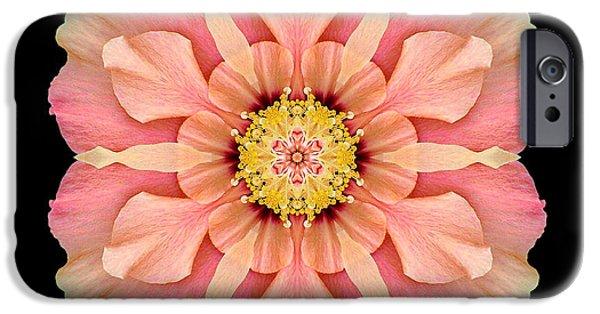 David J Bookbinder iPhone Cases - Hibiscus Rosa-sinensis I Flower Mandala iPhone Case by David J Bookbinder