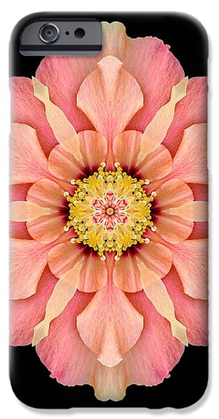 Hibiscus Rosa-sinensis I Flower Mandala iPhone Case by David J Bookbinder