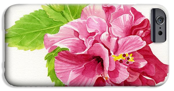 Hibiscus iPhone Cases - Hibiscus Rosa-Sinensis iPhone Case by Sharon Freeman