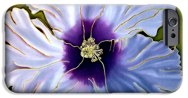 Still Life Tapestries - Textiles iPhone Cases - Hibiscus Two iPhone Case by Anderson R Moore