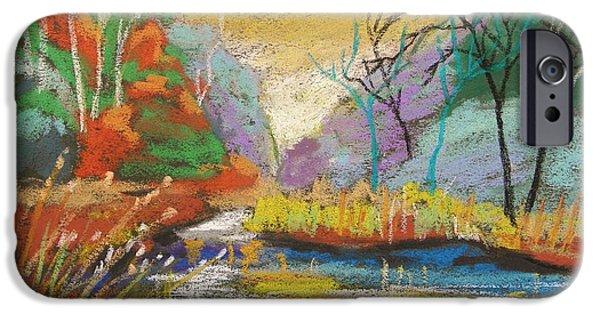 Jmw Pastels iPhone Cases - Hidden at Sunset iPhone Case by John  Williams