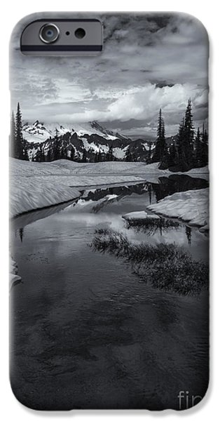 Mt iPhone Cases - Hidden Beneath the Clouds iPhone Case by Mike  Dawson