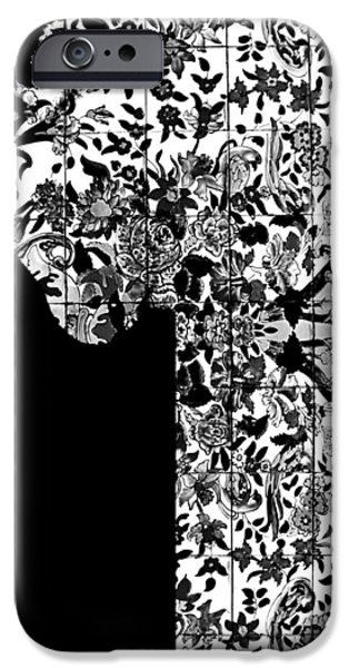Artistic Portraiture iPhone Cases - Hidden by Da Mask iPhone Case by Susan Maxwell Schmidt