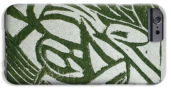 Lino Cut iPhone Cases - Hidden Horse iPhone Case by Christiane Schulze Art And Photography