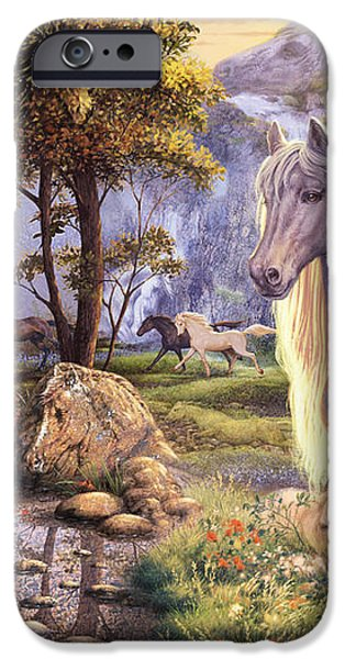 Hidden Images - Horses iPhone Case by Steve Read