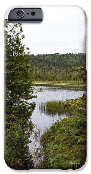 Watson Lake iPhone Cases - Hidden Lake Isle Royale National Park iPhone Case by Jason O Watson
