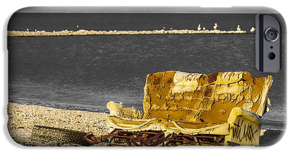 Beach iPhone Cases - Hide A Bed Hide Away iPhone Case by Scott Campbell