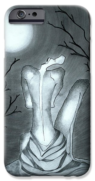 Graphite Drawing Pastels iPhone Cases - Hide and Seek iPhone Case by Jalal Gilani