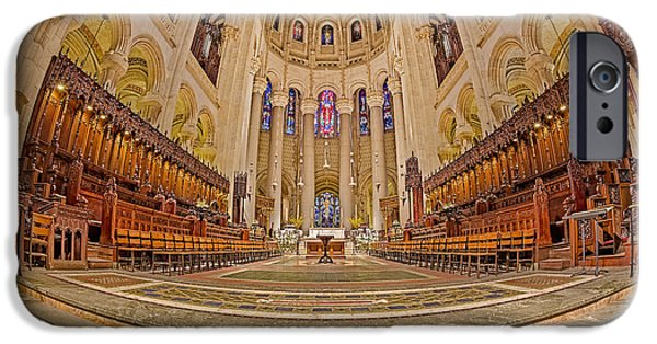 Building iPhone Cases - High Altar at Saint John the Divine Cathedral  iPhone Case by Susan Candelario