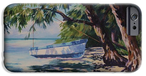 Mangrove iPhone Cases - High and Dry iPhone Case by John Clark