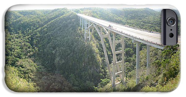 Connection iPhone Cases - High Angle View Of A Bridge, El Puente iPhone Case by Panoramic Images