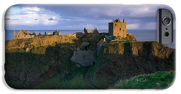 Built Structure iPhone Cases - High Angle View Of A Castle, Dunnottar iPhone Case by Panoramic Images