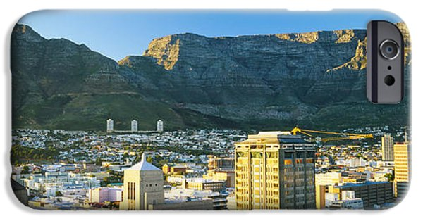 Cape Town iPhone Cases - High Angle View Of A City, Cape Town iPhone Case by Panoramic Images