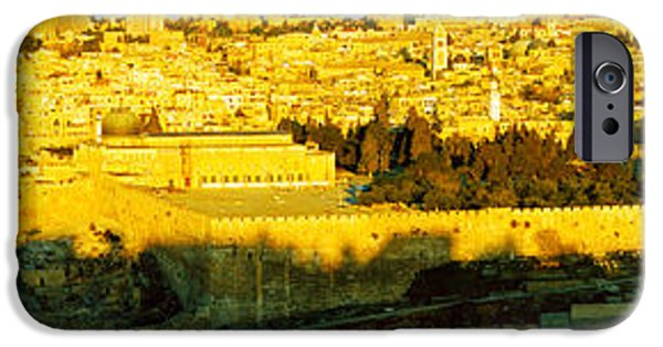 Israeli iPhone Cases - High Angle View Of A City, Jerusalem iPhone Case by Panoramic Images