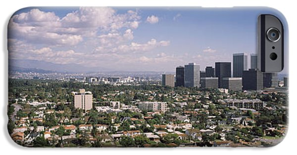 Built Structure iPhone Cases - High Angle View Of A Cityscape, Century iPhone Case by Panoramic Images