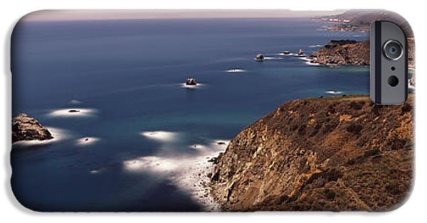 Big Sur California iPhone Cases - High Angle View Of A Coastline, Big iPhone Case by Panoramic Images