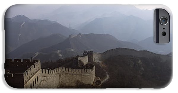 Built Structure iPhone Cases - High Angle View Of A Fortified Wall iPhone Case by Panoramic Images